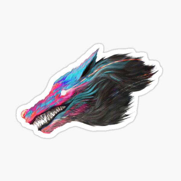 Color Wolf Sticker