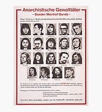 Red Army Faction/Baader-Meinhof wanted poster Photographic Print