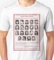 Red Army Faction/Baader-Meinhof wanted poster Unisex T-Shirt
