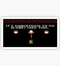 It's Dangerous To Go Alone! Take Haramblade. Sticker