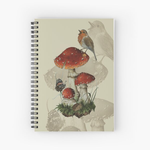 Fly agaric mushroom watercolour Spiral Notebook