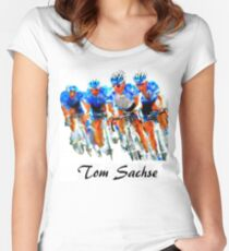 Cyclist Tee Shirt Women's Fitted Scoop T-Shirt