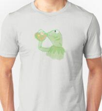 Kermit sipping Tea meme T-Shirt