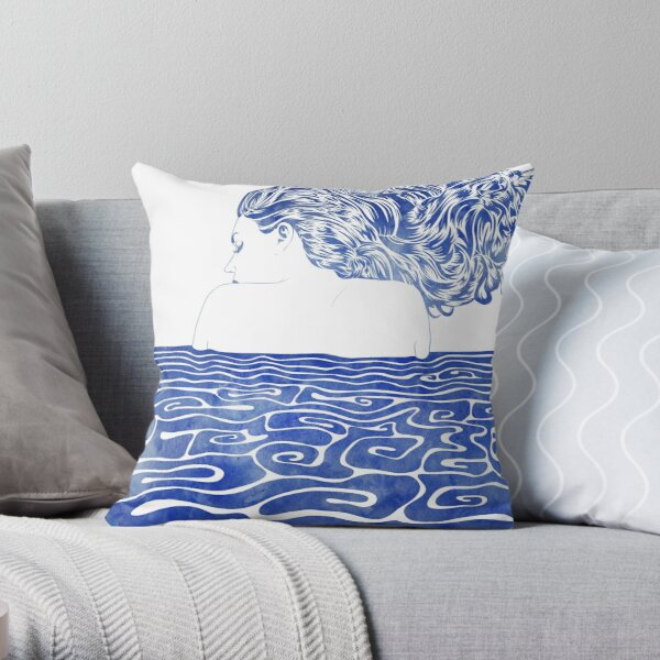 Water Nymph LXII Throw Pillow
