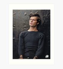 In color: Abraham Lincoln assassination conspirator Lewis Powell in custody, April 14, 1865. Art Print