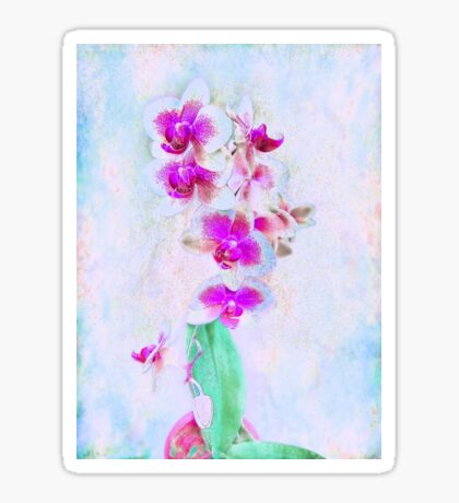 At Last Orchid Abstract Sticker
