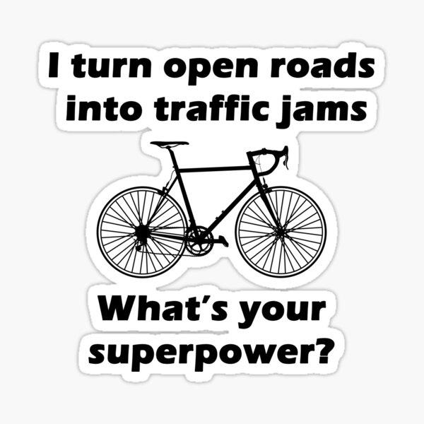 Cyclist Superpower design Sticker