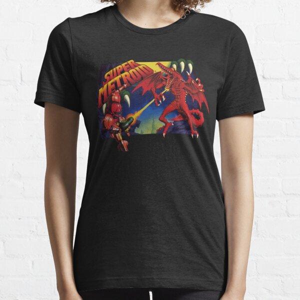 Super Metroid Box Art Essential T-Shirt