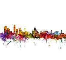 Liverpool England Skyline Photographic Print