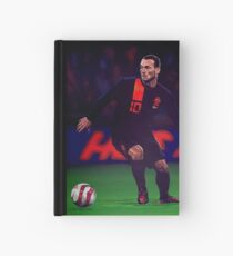 Wesley Sneijder painting Hardcover Journal