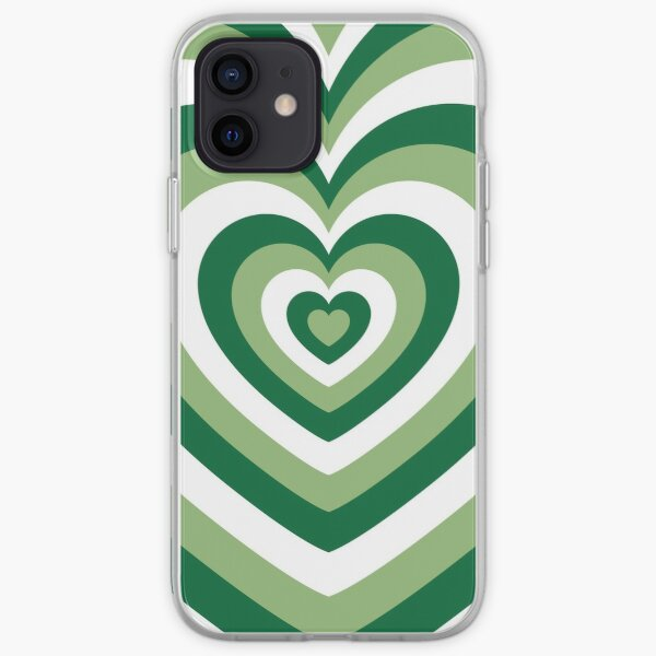 Green Latte Heart iPhone Soft Case