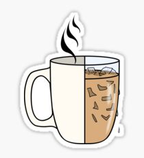 Hot Coffee | Iced Coffee Sticker