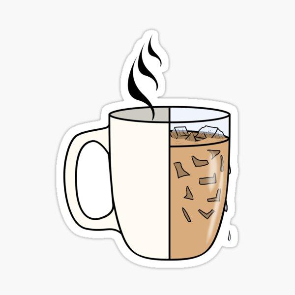 café chaud.  Des étés ardents Sticker