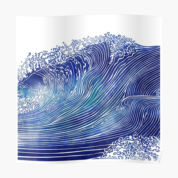 Pacific Waves Poster