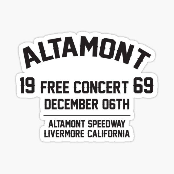 Altamont free concert  Festival 1969 Sticker