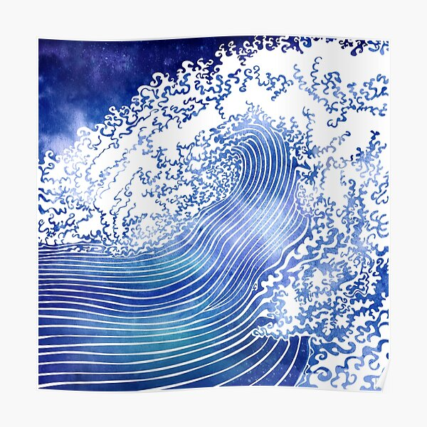 Pacific Waves II Poster