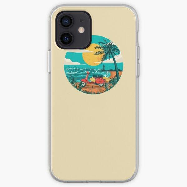la playa Funda blanda para iPhone