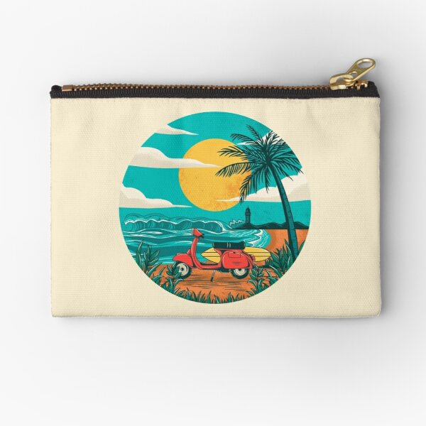 the beach Zipper Pouch