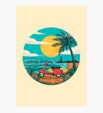 der Strand Fotodruck