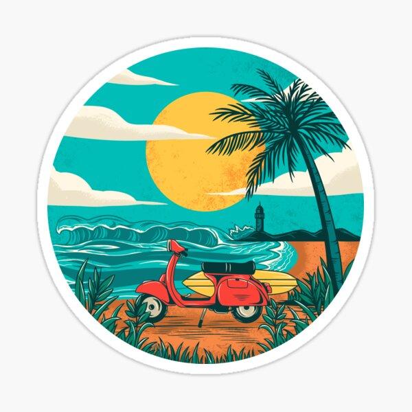 la plage Sticker