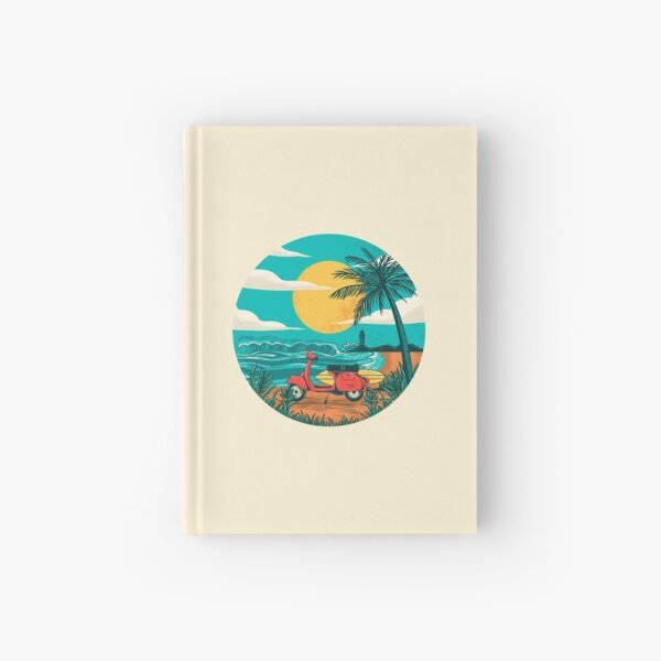 the beach Hardcover Journal