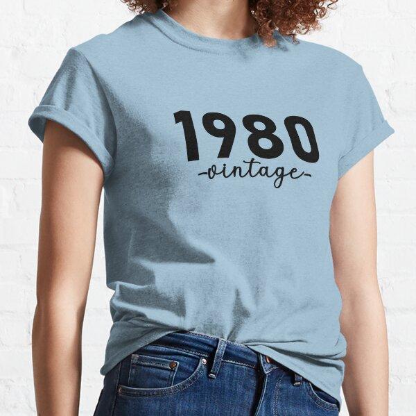 Chemise vintage 1980, 1980 Vintage, 1980 Vintage Hoodie, 1980 Vintage Masks, 1980 Vintage Fitted Masks T-shirt classique