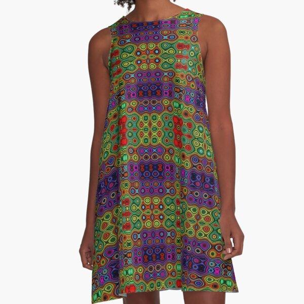 African Motif A-Line Dress