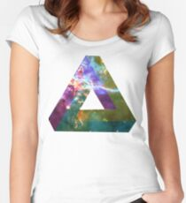 God's Impossible Triangle V1 | MXTHEMATIX Women's Fitted Scoop T-Shirt