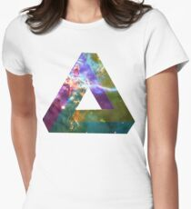 God's Impossible Triangle V1 | MXTHEMATIX Women's Fitted T-Shirt