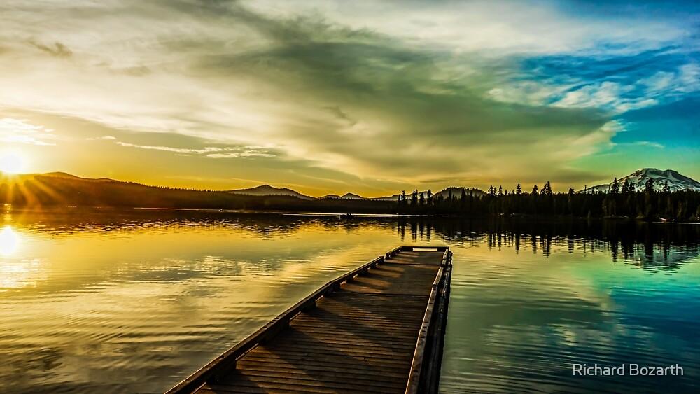 Lava Lake sunset by Richard Bozarth