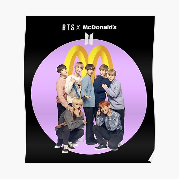 BTS X McDonalds Couleur Noire Poster