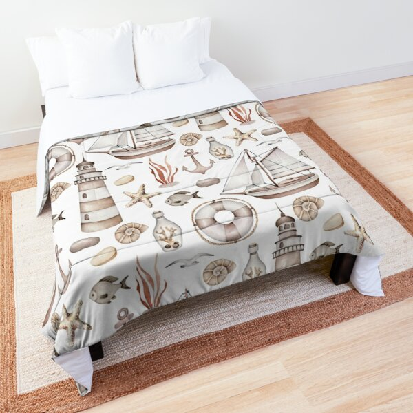 Sea life, marine pattern Comforter