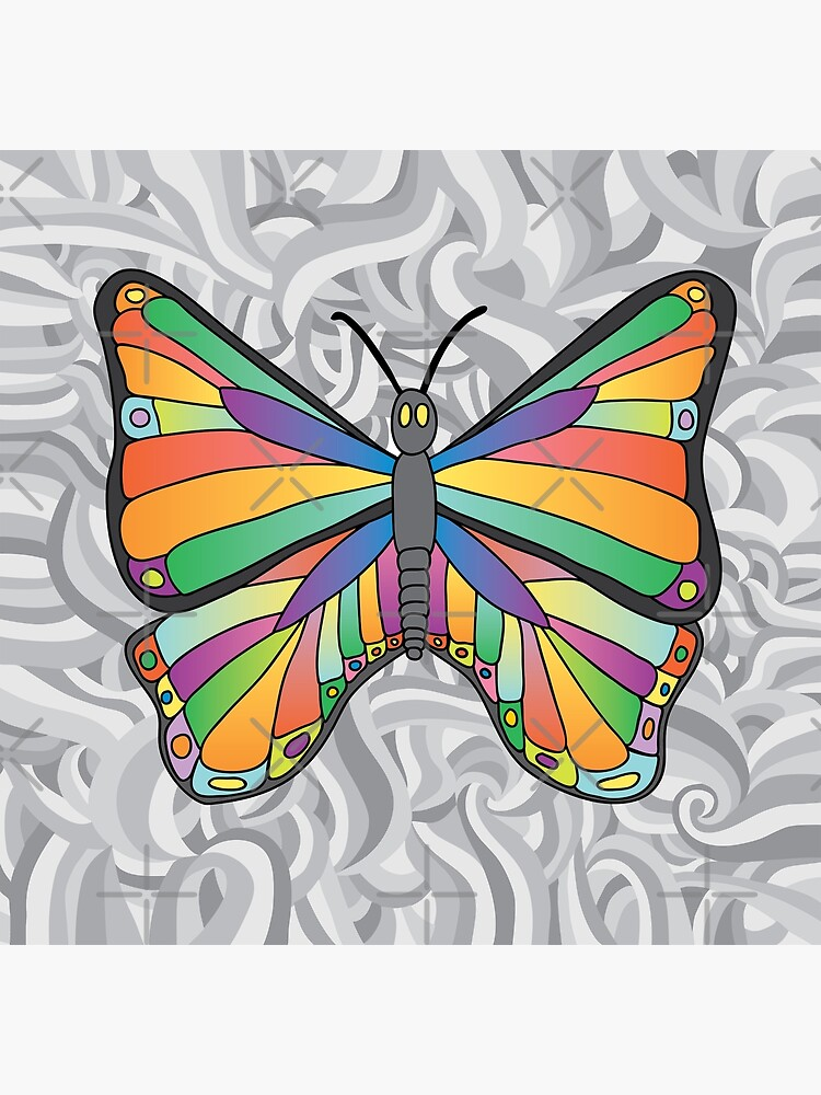 Groovy Butterfly (swirly background) by dave-williams