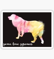 Peace, Love, Pyrenees Sticker