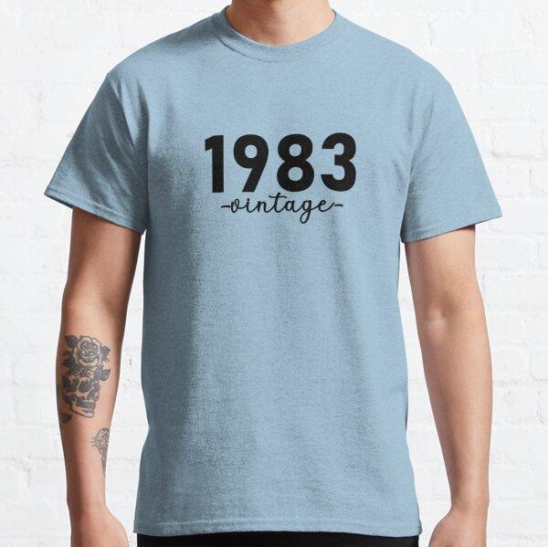 Chemise Vintage 1983, 1983 Vintage, 1983 Vintage Hoodie, 1983 Vintage Masks, 1983 Vintage Fitted Masks T-shirt classique