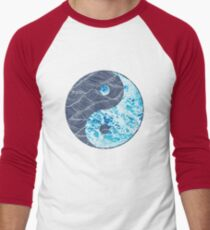 Yin Yang Surf Print Men's Baseball ¾ T-Shirt