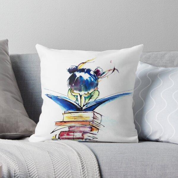 Japanese Pleasure of reading Throw Pillow