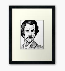 RON BURGUNDY? Framed Print