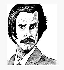 RON BURGUNDY? Photographic Print