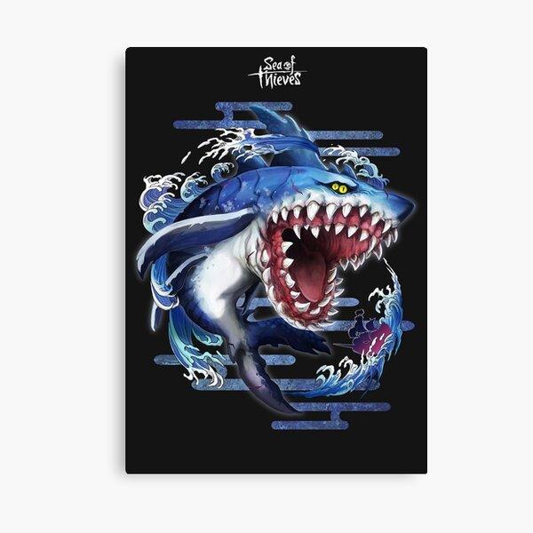 Sea Of Thieves Megalodon Shark Canvas Print