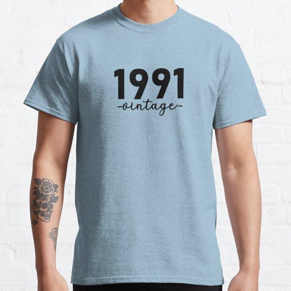 Chemise Vintage 1991, 1991 Vintage, 1991 Vintage Hoodie, 1991 Vintage Masks, 1991 Vintage Fitted Masks T-shirt classique