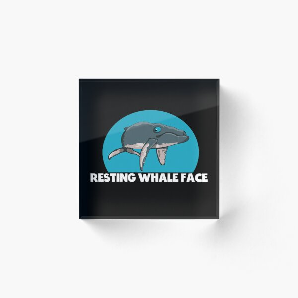 Resting Whale Face  - Cute And Funny Humpback Whale  Acrylic Block