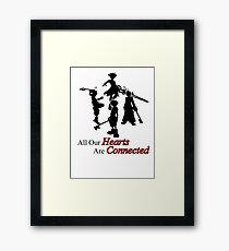 All Hearts are Connected Framed Print
