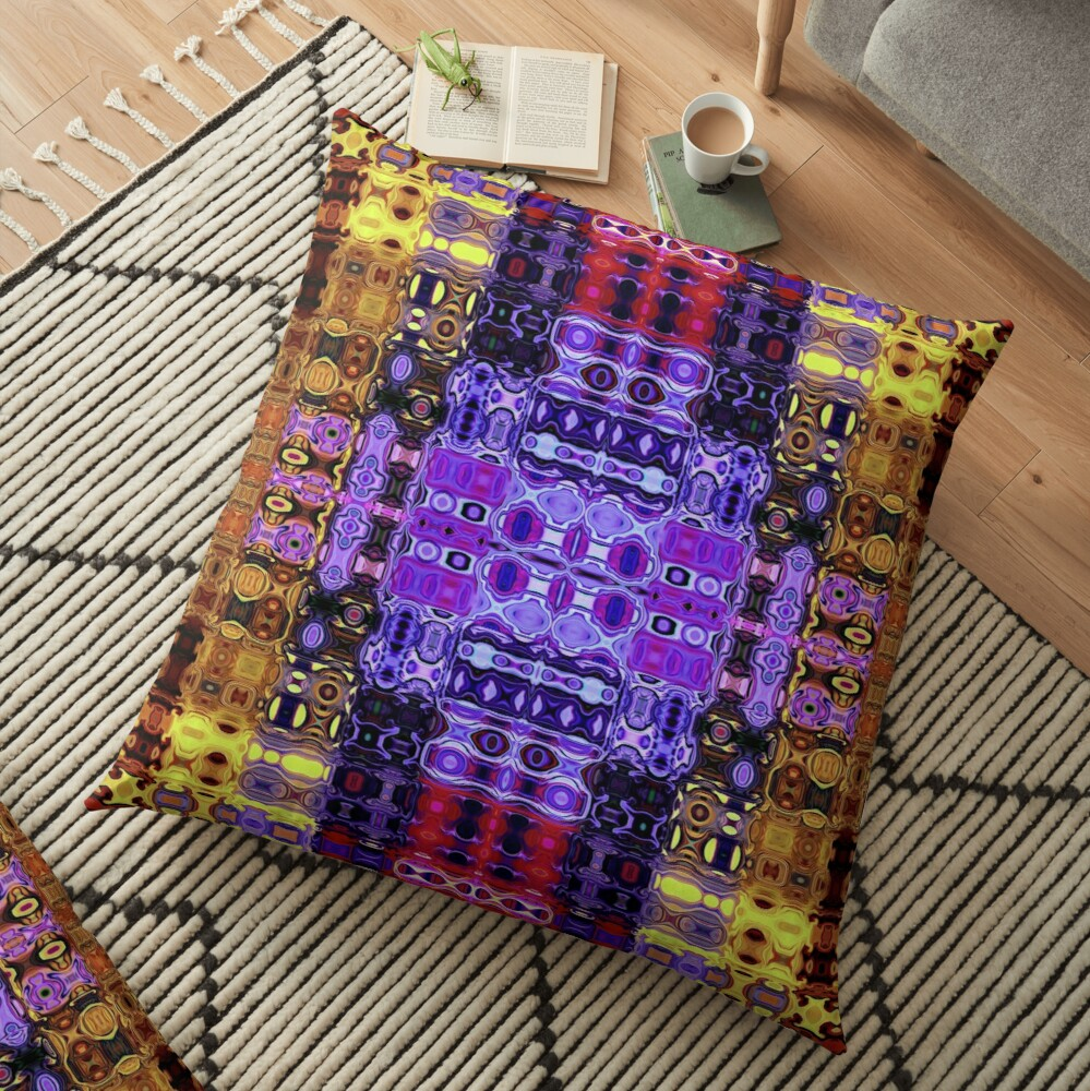 Bohemian Motif 3 Floor Pillow
