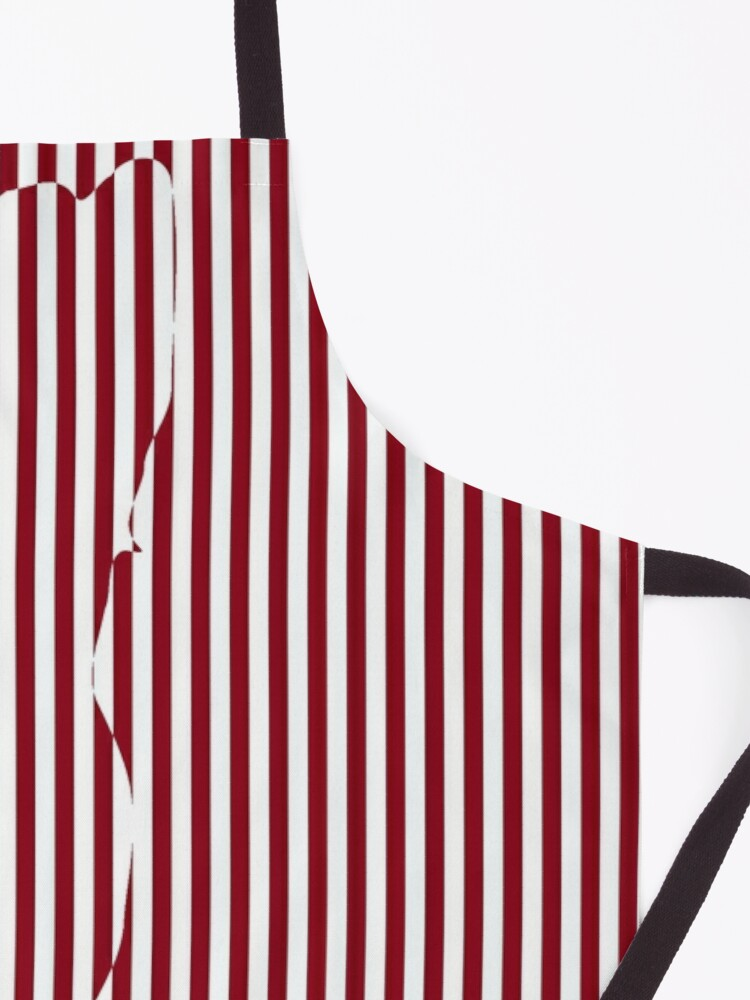 Alternate view of #Woman #Body #Silhouette #Clipart, anatomy, cute, sensuality, sex symbol, striped, elegance, design Apron