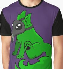Gas Mask Puppy Graphic T-Shirt