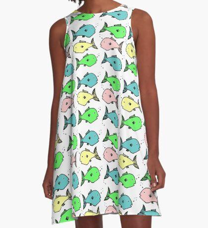 Colourful fish design A-Line Dress