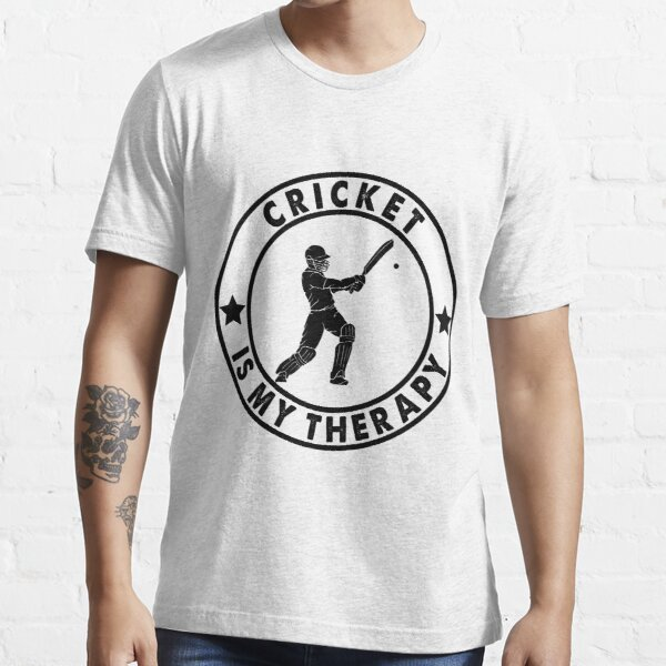 Cricket is my therapy,cricket,cricket lovers gift,funny cricket fans gift, Essential T-Shirt