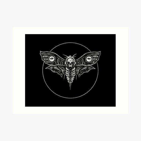 Death's Head Moth Art Print