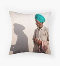 The Shadow of a Man Throw Pillow